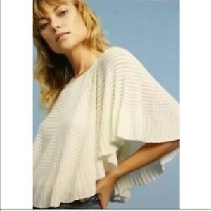Anthropologie Knitted & Knotted Blouse